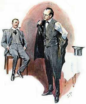 Watson asks Holmes if McFarlane is innocent.