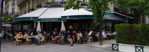 a Paris cafe