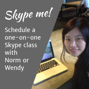 Buy credit for 8 hrs/month of Skype classes
