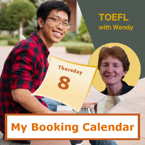 Book a TOEFL Prep class with Wendy